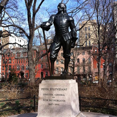 The statue of PeterStuyvesant